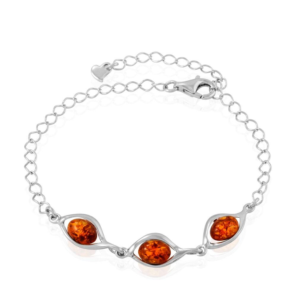 Bracelet Sawsanaae Argent Blanc Ambre - Bracelets fantaisie Femme   Histoire d'Or