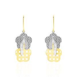 Boucles D'oreilles Pendantes Wallis Or Bicolore - Boucles d'oreilles pendantes Femme   Histoire d'Or