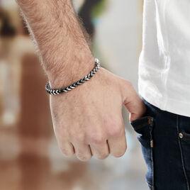 Bracelet Manuel Acier Blanc - Bracelets fantaisie Homme | Histoire d'Or