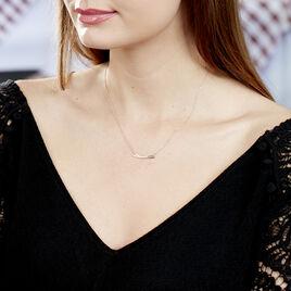 Collier Ilvia Or Rose Diamant - Bijoux Femme   Histoire d'Or