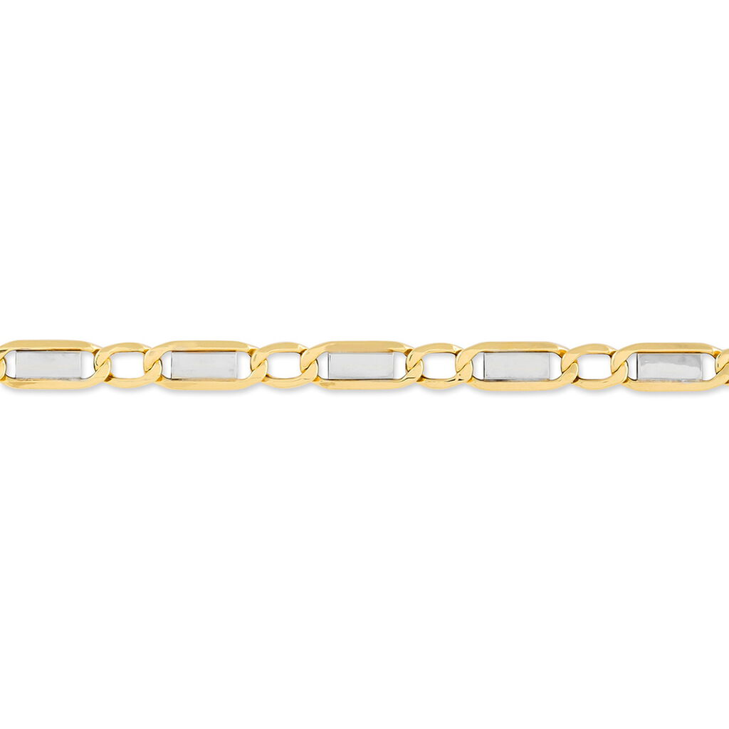 Bracelet Hymen Or Bicolore - Bracelets chaîne Homme   Histoire d'Or