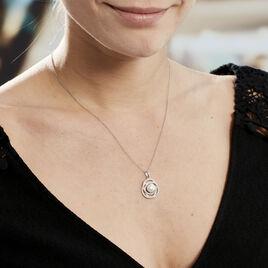 Collier Matilda Argent Blanc Perle De Culture Et Oxyde De Zirconium - Bijoux Femme | Histoire d'Or