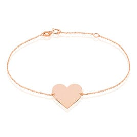 Bracelet Coeur Gravable Or Rose - Bracelets Coeur Femme | Histoire d'Or