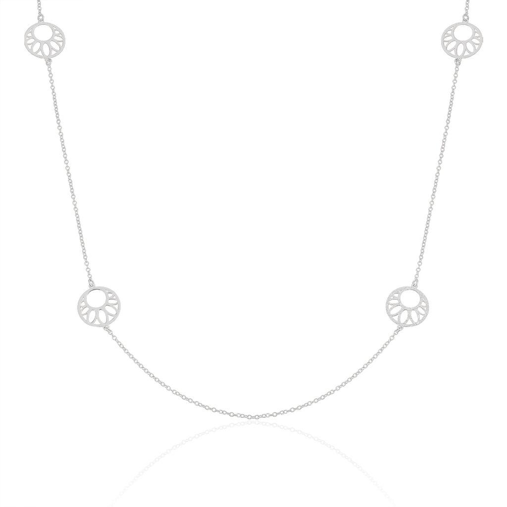 Collier Sautoir Slorane Argent Blanc - Colliers Lune Femme | Histoire d'Or