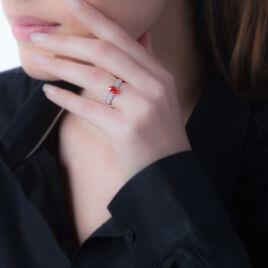 Bague Or Blanc Crista Quartz Fume - Bagues avec pierre Femme   Histoire d'Or