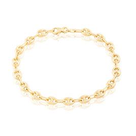 Bracelet Maille Dami Maille Grain De Cafe Or Jaune - Bracelets chaîne Homme   Histoire d'Or