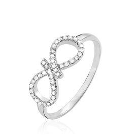 Bague Solea Or Blanc Diamant - Bagues Infini Femme | Histoire d'Or