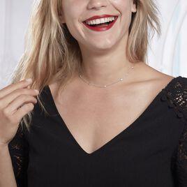 Collier Alfredo Argent Blanc Oxyde De Zirconium - Bijoux Femme | Histoire d'Or