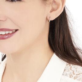 Créoles Verania Lisses Fil Rond Or Blanc - Boucles d'oreilles créoles Femme | Histoire d'Or