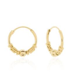 Créoles Tehanie Plaque Or Jaune - Boucles d'oreilles créoles Unisexe | Histoire d'Or