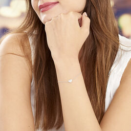 Bracelet Alois Argent Blanc Oxyde De Zirconium - Bracelets Coeur Femme | Histoire d'Or