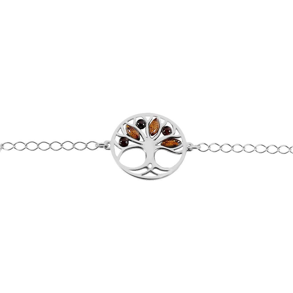 Bracelet Odaya Argent Blanc Ambre - Bracelets Arbre de vie Femme   Histoire d'Or