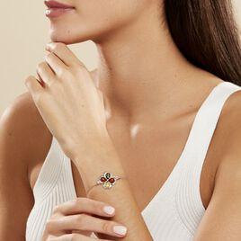Bracelet Oviya Argent Blanc Ambre - Bracelets fantaisie Femme | Histoire d'Or