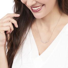 Collier Angellina Argent Rose Oxyde De Zirconium - Colliers fantaisie Femme | Histoire d'Or