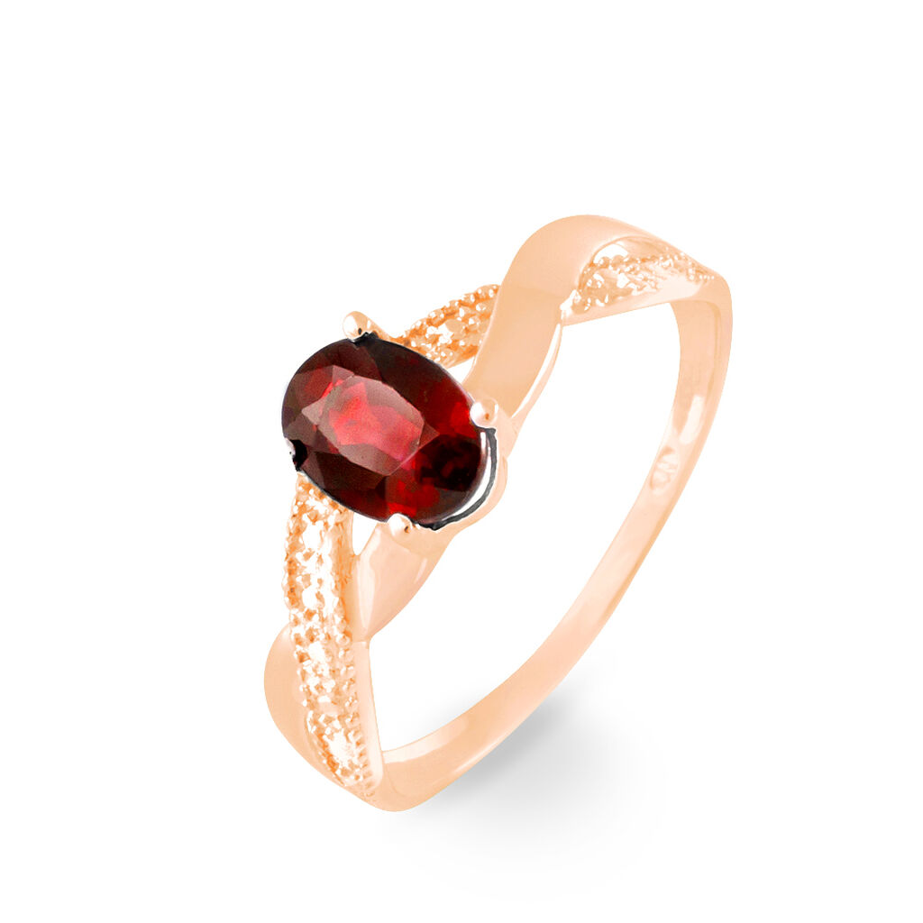 Bague Candice Or Rose Grenat