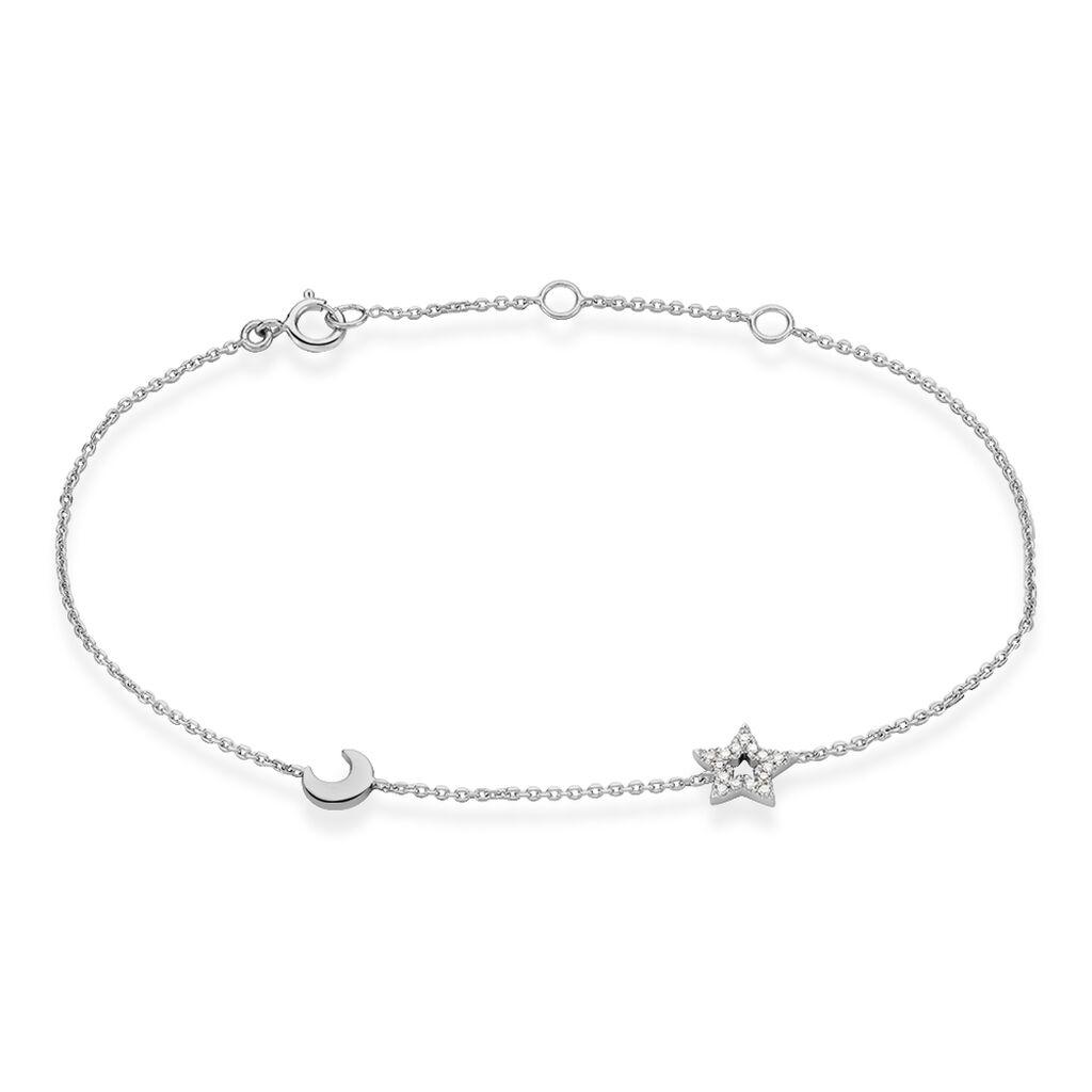 Bracelet Dalie Or Blanc Diamant - Bracelets Lune Femme | Histoire d'Or