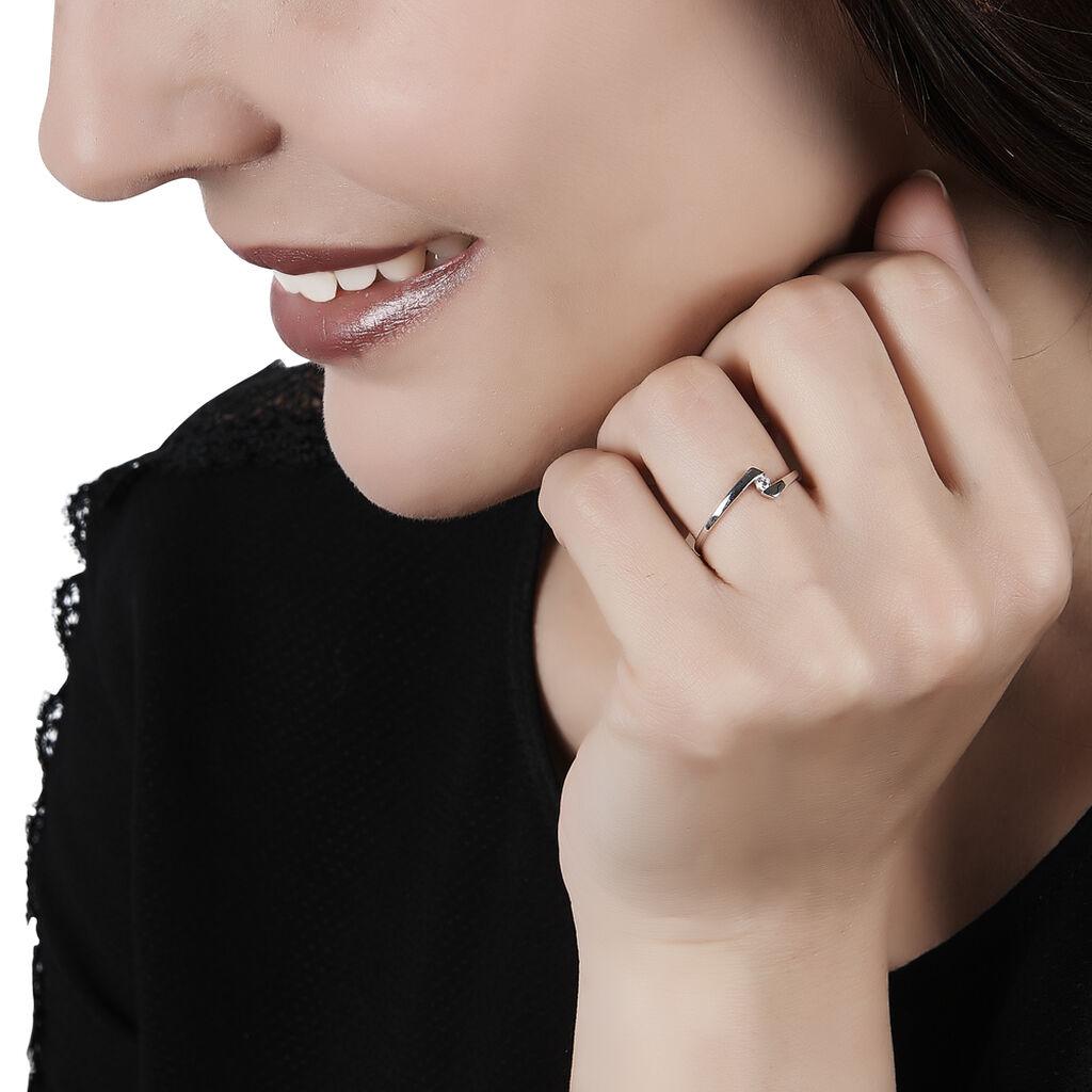 Bague Solitaire Ashley Or Blanc Diamant - Bagues avec pierre Femme   Histoire d'Or