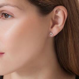 Boucles D'oreilles Puces Mahaut Or Blanc Diamant - Clous d'oreilles Femme   Histoire d'Or