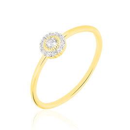 Bague Adelisa Or Jaune Diamant - Bagues avec pierre Femme | Histoire d'Or