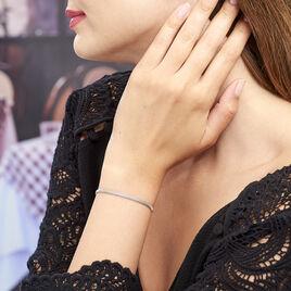 Bracelet Christine Argent Rhodié - Bracelets fantaisie Femme | Histoire d'Or