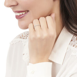 Bague Accumulation Losange Argent Blanc Oxyde De Zirconium - Bagues avec pierre Femme | Histoire d'Or
