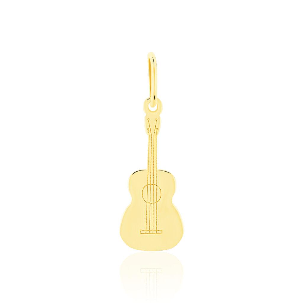 Pendentif Fatema Musique Guitare Or Jaune - Pendentifs Unisexe   Histoire d'Or