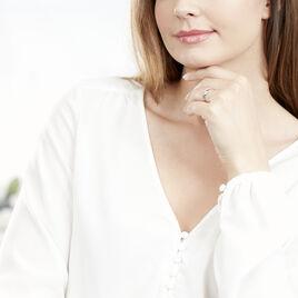 Bague Nene Or Bicolore Diamant - Bagues Croix Femme | Histoire d'Or