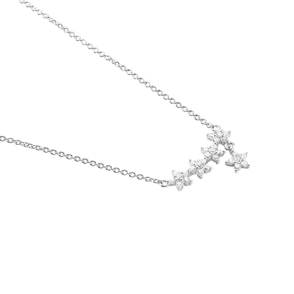Collier Laetizia Constellation Argent Blanc Oxyde De Zirconium - Colliers Etoile Femme   Histoire d'Or