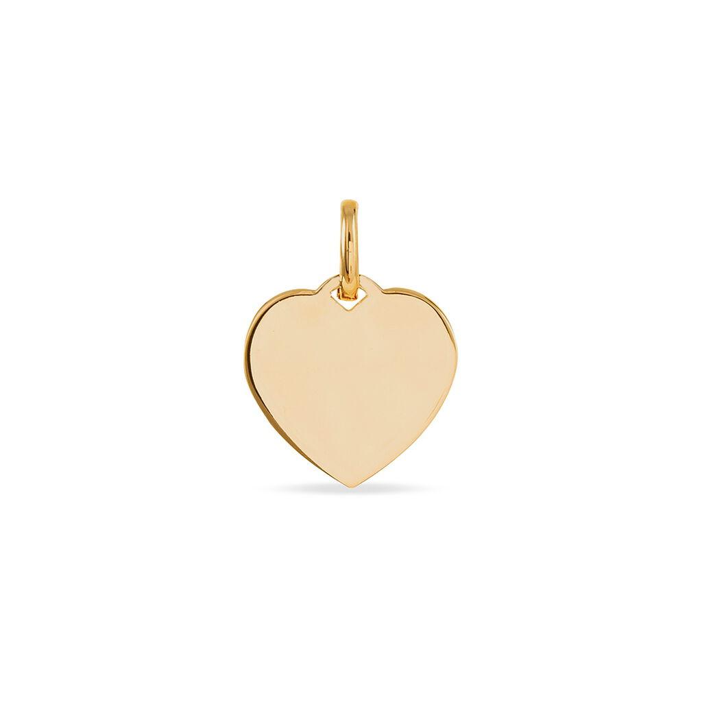 Pendentif Stephie Plaque Or Jaune - Pendentifs Coeur Femme   Histoire d'Or
