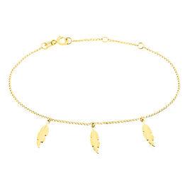 Bracelet Indian Nature Feuilles Or Jaune - Bracelets Plume Femme | Histoire d'Or