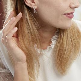 Boucles D'oreilles Pendantes Filipia Argent Blanc Oxyde De Zirconium - Boucles d'oreilles fantaisie Femme   Histoire d'Or