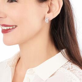 Boucles D'oreilles Pendantes Adria Argent Blanc Oxyde De Zirconium - Boucles d'oreilles fantaisie Femme | Histoire d'Or
