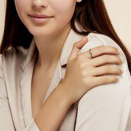 Bague Florentina Or Blanc Saphir Et Diamant - Bagues avec pierre Femme | Histoire d'Or