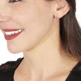 Boucles D'oreilles Sofia Or Rose - Boucles d'oreilles pendantes Femme | Histoire d'Or