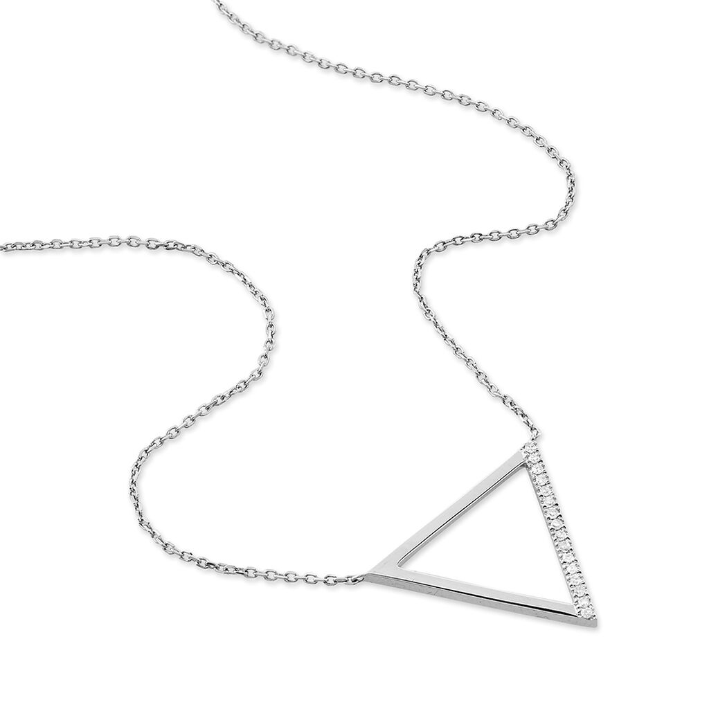 Collier Emmana Or Blanc Diamant