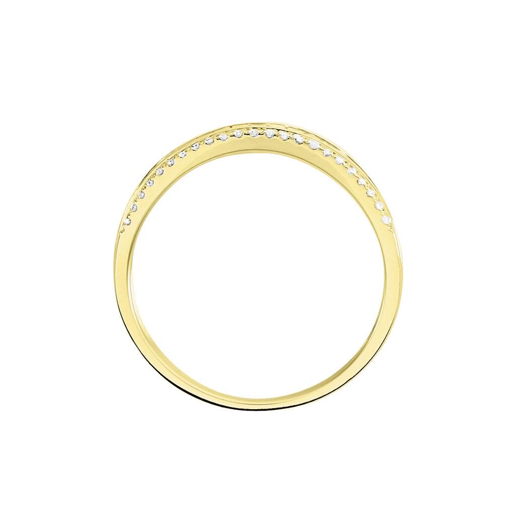 Bague Constance Or Jaune Diamant - Bagues avec pierre Femme   Histoire d'Or
