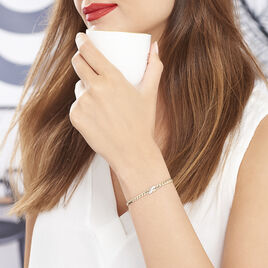 Bracelet Lamyae Plaque Or Jaune Oxyde De Zirconium - Bijoux Femme | Histoire d'Or