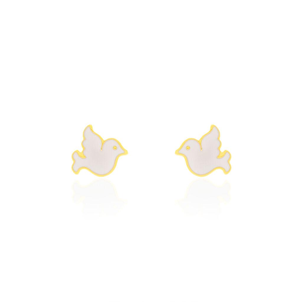 Boucles D'oreilles Puces Theoxenna Colombe Or Jaune - Clous d'oreilles Enfant | Histoire d'Or