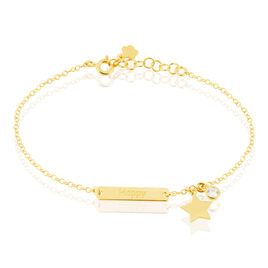 Bracelet Dreaming Argent Jaune Oxyde De Zirconium - Bijoux Etoile Femme | Histoire d'Or