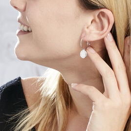 Créoles Olivea Argent Blanc - Boucles d'oreilles créoles Femme | Histoire d'Or
