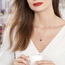 Collier Héléane Argent Blanc Céramique Et Oxyde De Zirconium - Colliers fantaisie Femme | Histoire d'Or