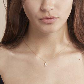 Collier Caline Or Jaune Diamant - Colliers Plume Femme | Histoire d'Or