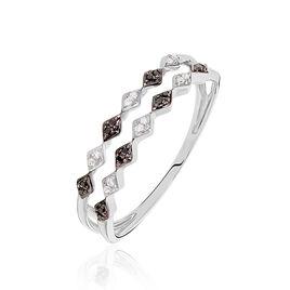 Bague Enid Or Blanc Diamant - Bagues avec pierre Femme | Histoire d'Or