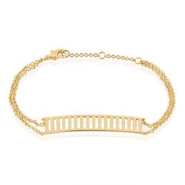 Bracelet Cristina Plaque Or Jaune - Bracelets fantaisie Femme | Histoire d'Or