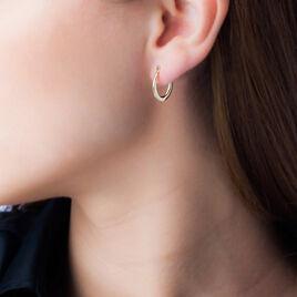 Créoles Telya Lisses Fil Bombe Or Jaune - Boucles d'oreilles créoles Femme   Histoire d'Or