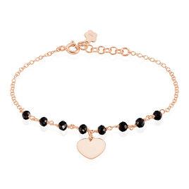 Bracelet Mirentxu Argent Rose Pierre De Synthese - Bracelets Coeur Femme | Histoire d'Or