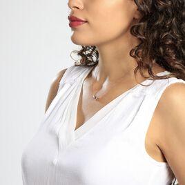 Collier Or Rose Gaelle Topaze Oxydes De Zirconium - Bijoux Femme | Histoire d'Or