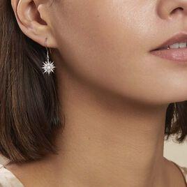 Boucles D'oreilles Pendantes Blanca Argent Blanc Perle De Culture - Boucles d'Oreilles Etoile Femme   Histoire d'Or