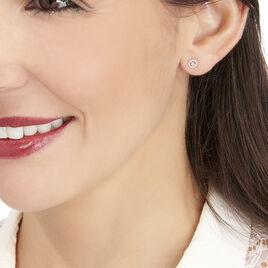 Boucles D'oreilles Puces Domitia Or Blanc Diamant - Clous d'oreilles Femme   Histoire d'Or