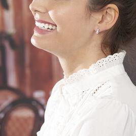 Boucles D'oreilles Pendantes Genowefa Argent Blanc Oxyde De Zirconium - Boucles d'oreilles fantaisie Femme | Histoire d'Or